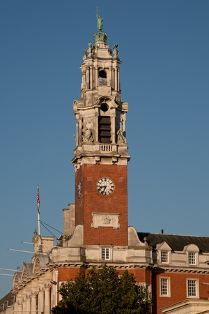 Clock Tower of Colchester Town  Hall,UK Stock Photo