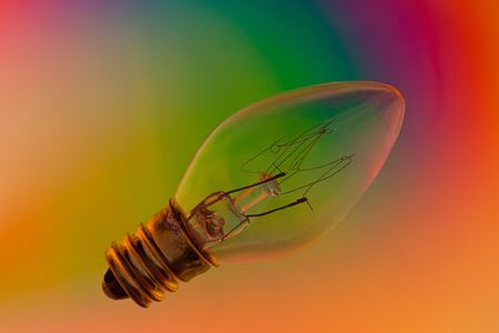 polarised: Close up of a light bulb on a polarised background