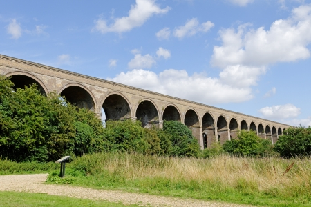 A Victorian brick built railway viaduct in the UK Stock Photo