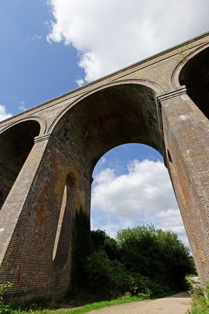chappel: A Victorian brick built railway viaduct in the UK Stock Photo