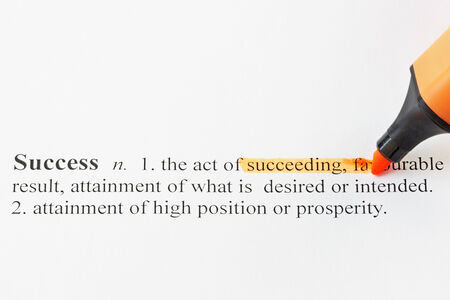 The word Success with highlighted words in the definition photo