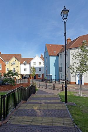 Modern urban housing in a UK town centre photo