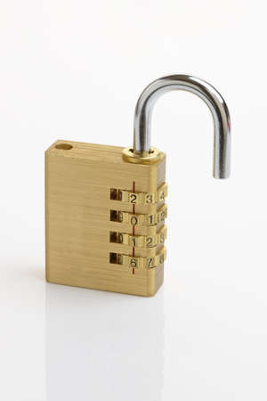 combination: A combination padlock showing the date 2016. New Year concept Stock Photo