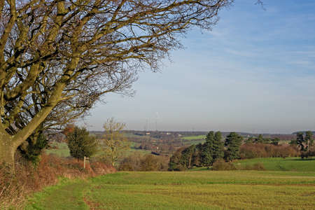 constable: View across the River Stour valley in Suffolk,UK. An area made famous by artist John Constable. Stock Photo