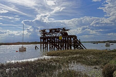 quay: A derelict ballast loading quay on Alresford Creek,Essex,UK