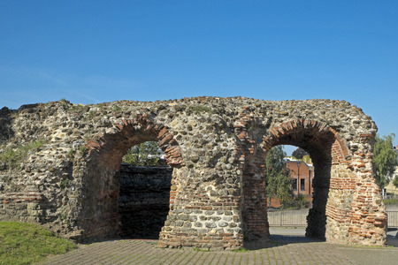 Balkerne Gate, Colchester, Essex,UK. A Roman gateway in the town wall