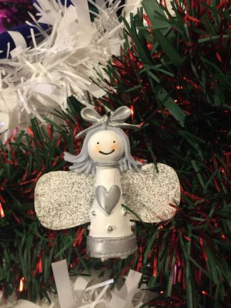 A Wooden Christmas Angel Decoration