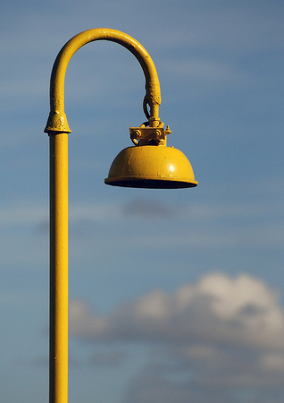 AN old style lampost in Lithuania Stock Photo