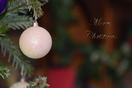 White Bauble with Xmas Message