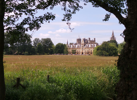View over a field of Christs Church College, Oxford University
