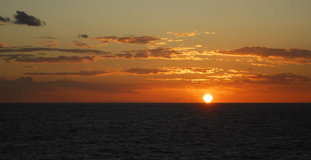 manche: The Sun setting over the English Channel