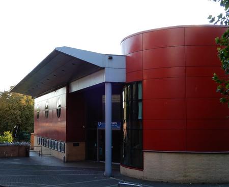 Basingstoke UK, 5th October 2017. The main entrance to the Anvil arts centre, Basingstokes main theatre.