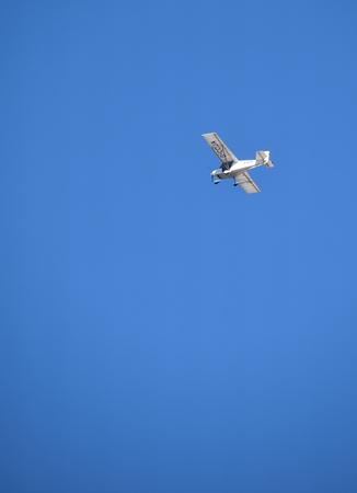 Reading, United Kingdom - May 05 2018:   Best Off Skyranger registration G-CCJA flying in blue skies over Reading