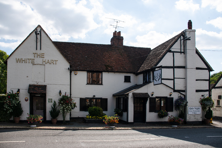 Winkfield, United Kingdom - September 01 2018:   The front of the White Hart pub on Church Road Editorial