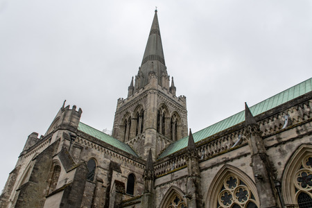 The Spire and roof of Chichester Cathedral 写真素材