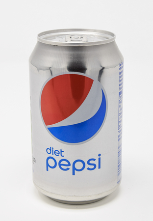 Reading, United Kingdom - January 13 2018:   A can of diet pepsi Фото со стока - 121806817