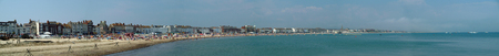 Weymouth, United Kingdom - June 09 2007:   A Panorama of the seafront at Weymouth