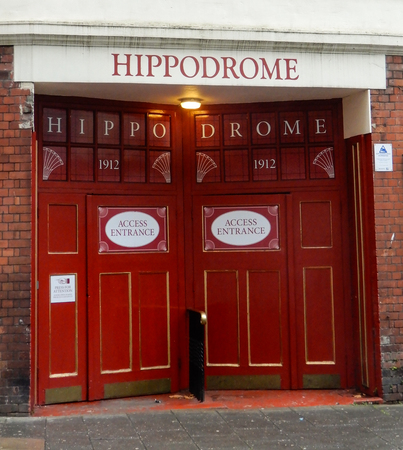 Bristol, United Kingdom - October 23 2017:   Doors to the Bristol Hippodrome Theatre opened in 1912