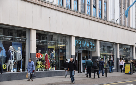 Brighton, United Kingdom - March 29 2018:   The frontage of the Primark store on Western road