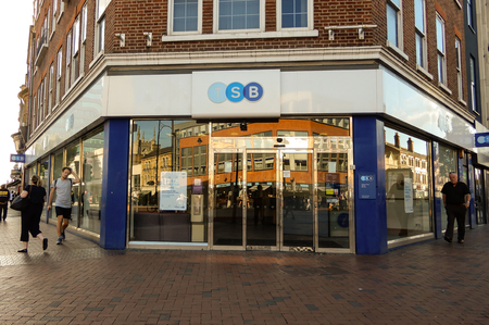 Reading, United Kingdom - June 22 2018:   The store frontage of TSB Bank in Broad St