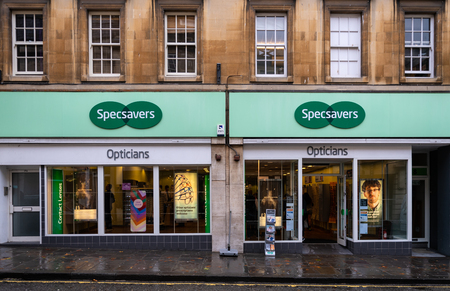 Bath, United Kingdom - October 13 2018:   The front of Specsavers opticians in Westgate Street