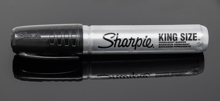 Reading, United Kingdom - February 03 2018:   A King Sized black Sharpie marker pen Editorial