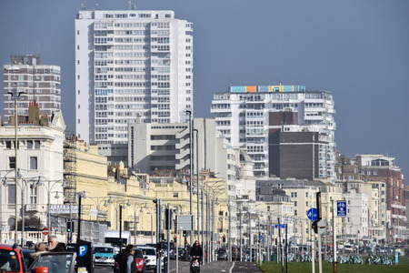 Brighton, United Kingdom - March 27 2018:   A view of Brighton taken from Kingsway Publikacyjne