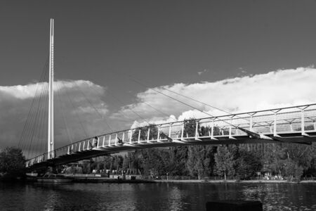 Christchurch Suspension Bridge stretching across the River Thames
