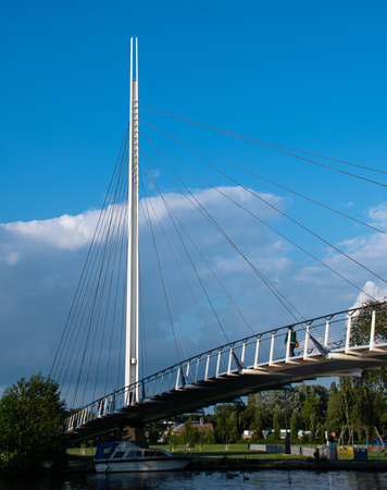 Christchurch Suspension Bridge stretching across the River Thames