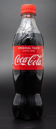 Reading, United Kingdom - April 19 2019:   A 500 millilitre of Coca Cola drink Редакционное