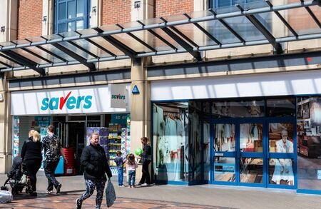 Swindon, United Kingdom - May 04 2019:   The Frontage of Savers Store on the Parade