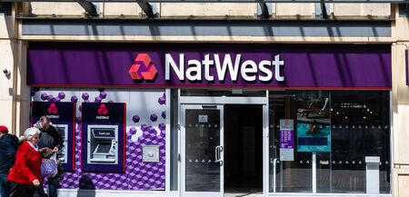 Swindon, United Kingdom - May 04 2019:   The Frontage of NatWest Bank on the Parade