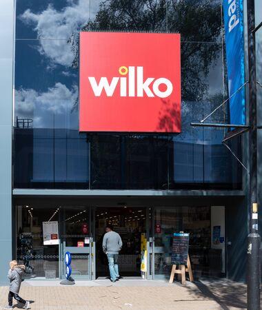 Swindon, United Kingdom - May 04 2019:   The Frontage of Wilko Hardware Store on the Parade Редакционное