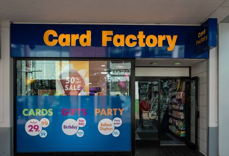 Swindon, United Kingdom - May 04 2019:   The Frontage of Card Factory Store on the Parade Редакционное