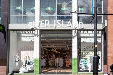 Swindon, United Kingdom - May 04 2019:   The Frontage of River Island clothes store in The Parade