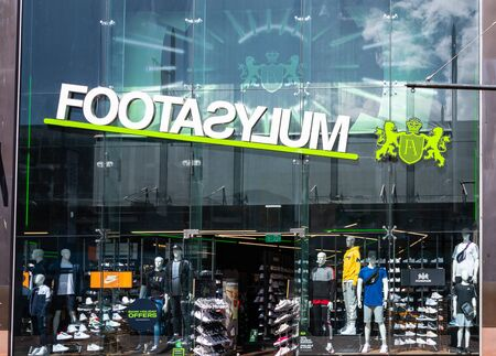 Swindon, United Kingdom - May 04 2019:   The Frontage of Footasylum shoe store in The Parade