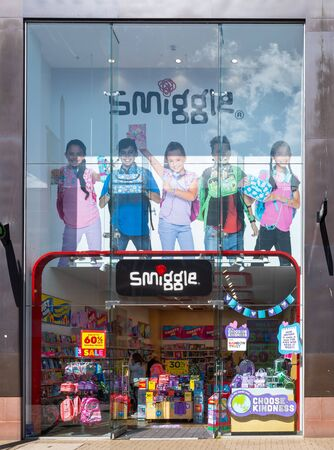 Swindon, United Kingdom - May 04 2019:   The Frontage of Smiggle stationery store in The Parade Редакционное