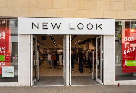 Swindon, United Kingdom - May 04 2019:   The entrance to New Look Clothes store branch on Regent Street