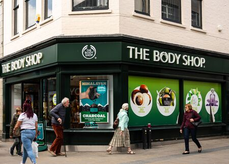 Swindon, United Kingdom - May 04 2019:   Frontage of the Body Shop in Regent St