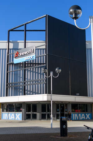 Chichester, United Kingdom - January 19 2020:  The frontage of Cineworld Cinema at Chichester Gate