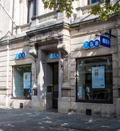 Gloucester, United Kingdom - September 08 2019:  The branch of TSB bank on Eastgate Street