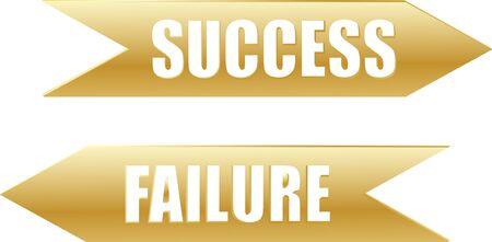 A pair of arrows indicating success and failure Banco de Imagens