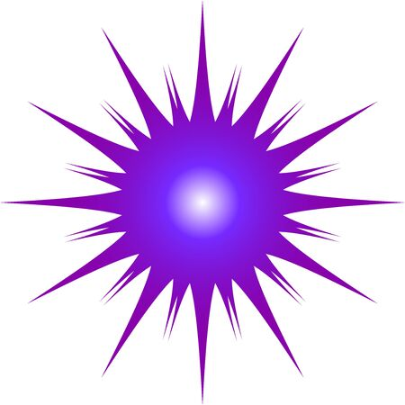 A Purple and Blue Starburst graphic pattern suitable for use as a logo or graphic element Banco de Imagens