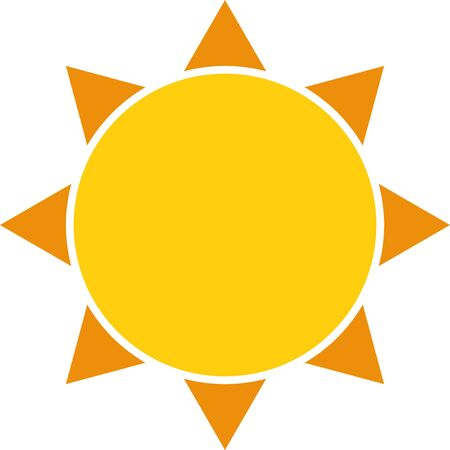 A stylised graphic of the sun for use as a logo