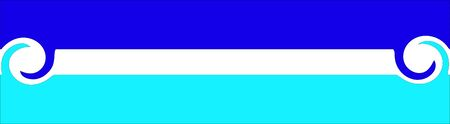 A logo of stripes with twisted ends in Blue and Cyan