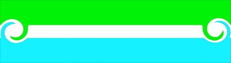 A logo of stripes with twisted ends in Grren and Cyan Banco de Imagens