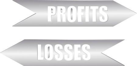 A pair of arrows indicating Profits and losses