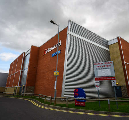 Chichester, United Kingdom - September 12 2020: The frontage of Cineworld Cinema in Terminus Road