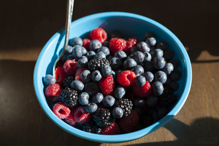 Berry Breakfast Medley of Blueberries, Blackberries, Frambozen