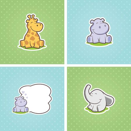 baby animals vector Illustration